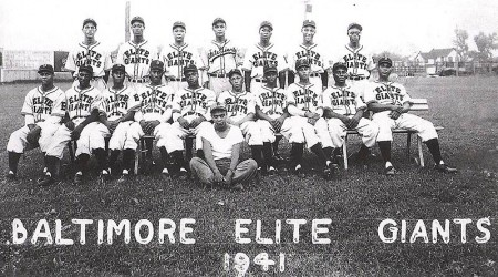Baltimore Elite Giants 1941 - Charlie Biot (1st on left/standing) - Roy Campanella (1st on left/sitting) Charlie's roommate - (click photo for larger version)