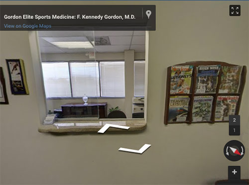 gordon elite sports medicine virtual tour link
