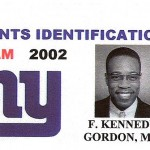 F. Kennedy Gordon NY Giants Identification