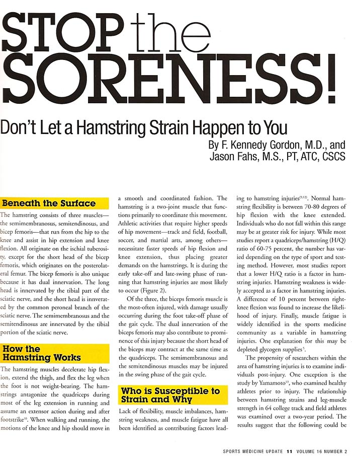 Hamstring Article